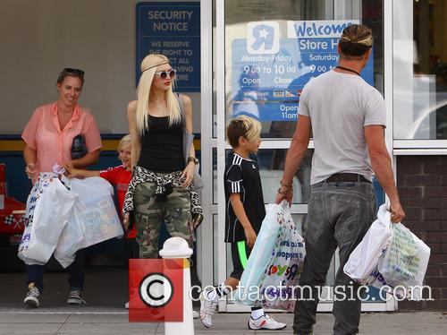 Gwen Stefani, Gavin Rossdale and Kingston Rossdale 2