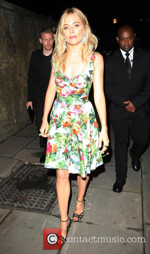 Sienna Miller Leaving the BMW I3 Reveal Party