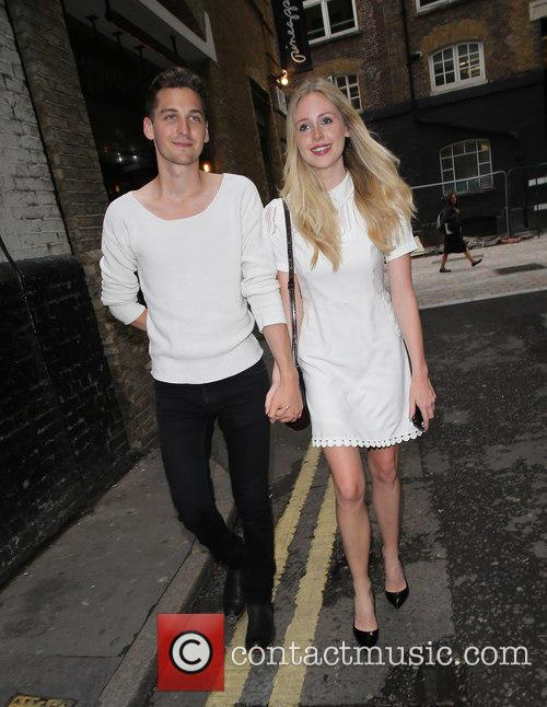 Diana Vickers and boyfriend go for dinner