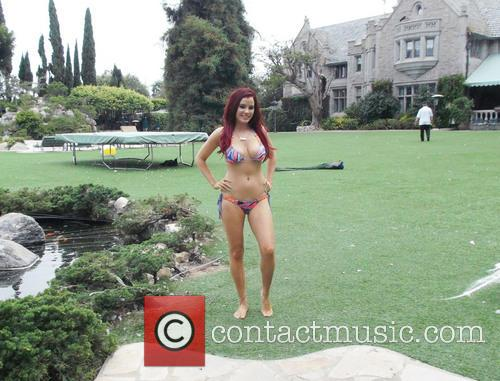Carla Howe at the Playboy Mansion with Hugh...