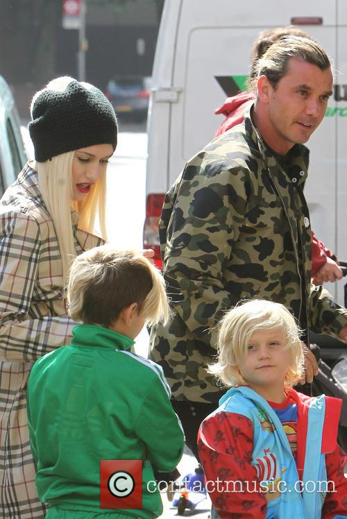 Gwen Stefani, Gavin Rossdale, Kingston Rossdale and Zuma Nesta Rock Rossdale 5