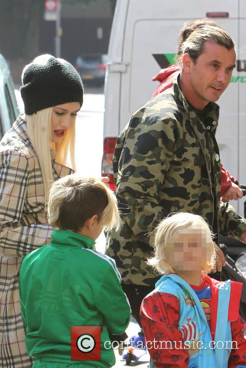 Gwen Stefani, Gavin Rossdale, Kingston Rossdale and Zuma Nesta Rock Rossdale 8