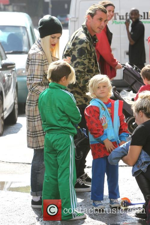 Gwen Stefani, Gavin Rossdale, Kingston Rossdale and Zuma Nesta Rock Rossdale 11