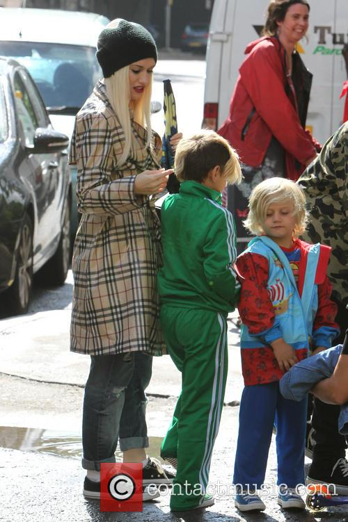 Gwen Stefani, Kingston Rossdale and Zuma Nesta Rock Rossdale 4