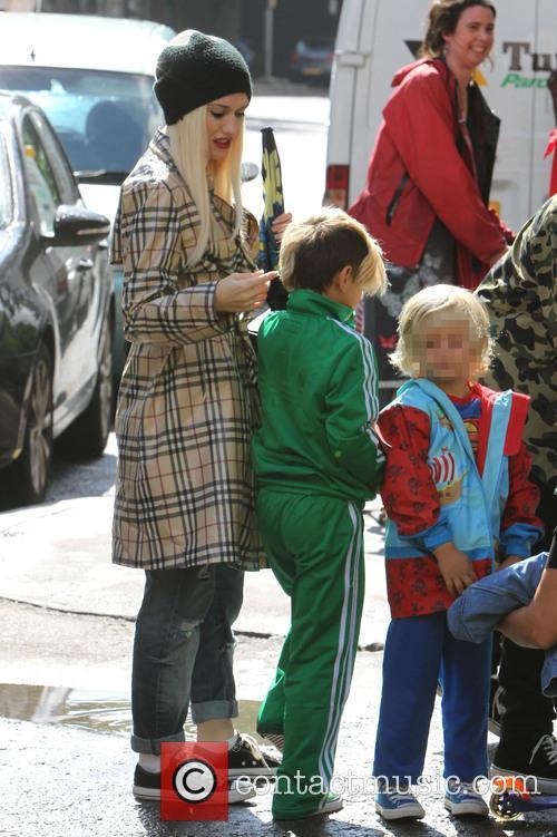 Gwen Stefani, Kingston Rossdale and Zuma Nesta Rock Rossdale