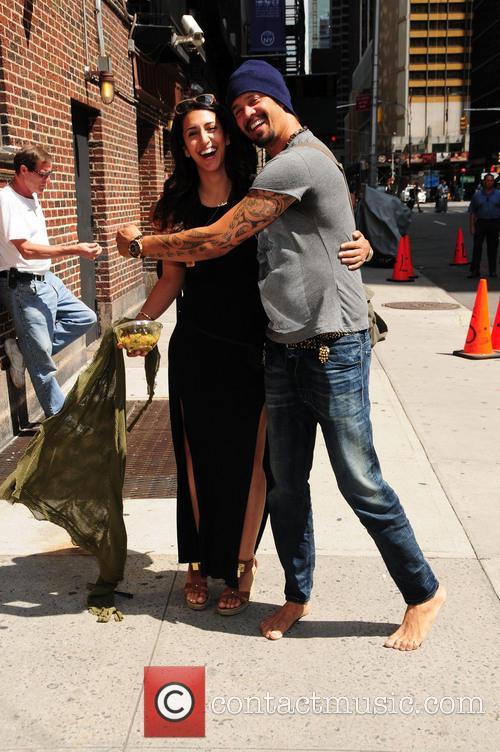 michael franti celebrities outside the letterman show 3789537