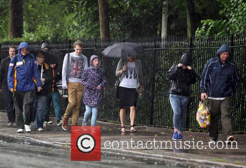 Tourists visit London Zoo during a bout of...