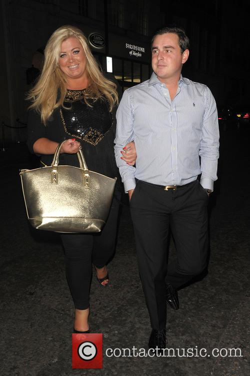 Gemma Collins seen leaving Nobu restaurant