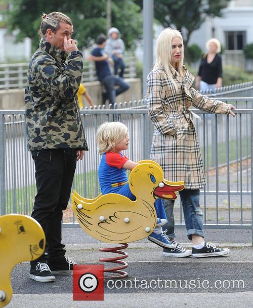 Gwen Stefani, Gavin Rossdale and Zuma Nesta Rock Rossdale 9