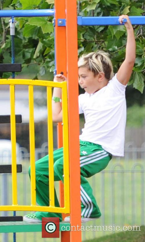 Gwen Stefani, Kingston Rossdale and Gavin Rossdale 2