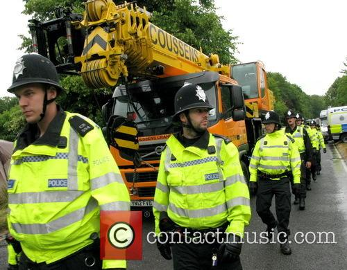 Anti-fracking protesters continue to protest outside Balcombe drilling...