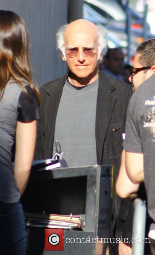larry david celebrities outside abcs jimmy kimmel 3790189