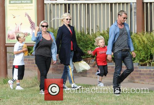 Gwen Stefani, Gavin Rossdale, Kingston Rossdale and And Zuma Rossdale 5