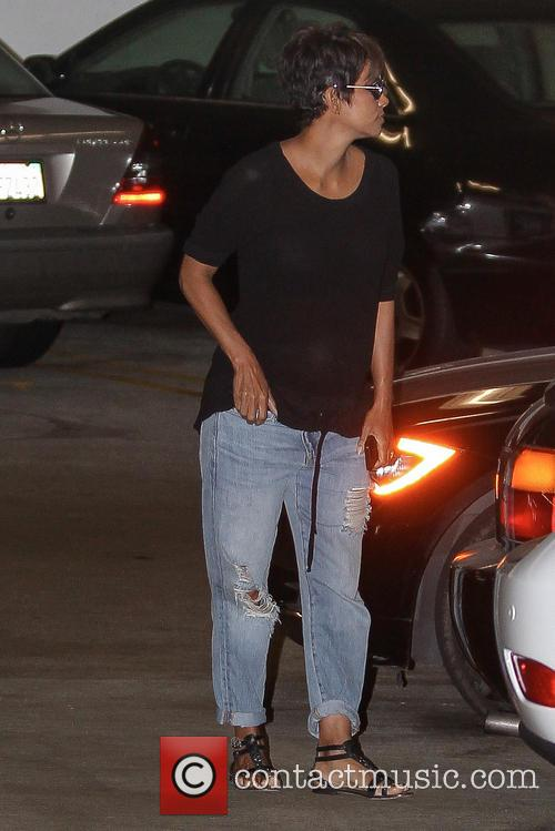 Halle Berry and Olivier Martinez seen leaving the doctor office