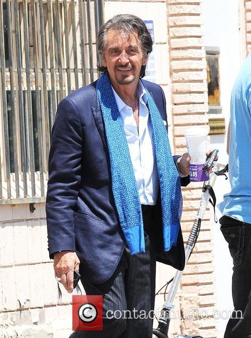Al Pacino and Jennifer Garner arriving on the set of 'Imagine'