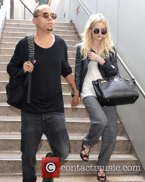 Evan Ross and Ashlee Simpson 1