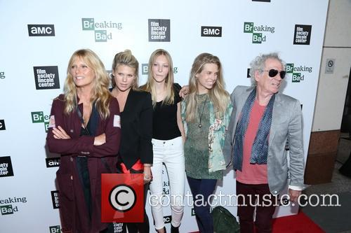 Patti Hansen, Alexandra Richards, Ella Richards, Theodora Richards and Keith Richards 2