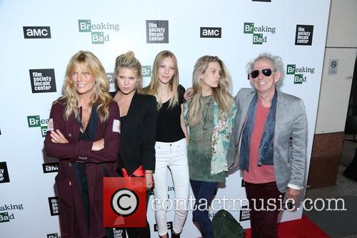 Keith Richards, Alexandra Richards, Ella Richards, Theodora Richards and Patti Hansen 4