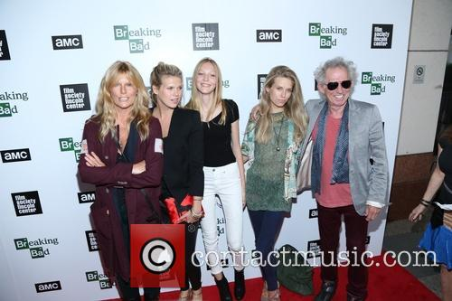 Patti Hansen, Alexandra Richards, Ella Richards, Theodora Richards and Keith Richards 3