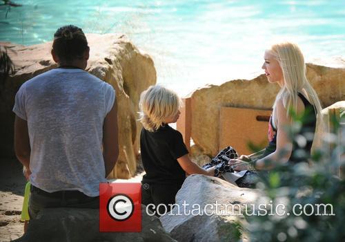 Gwen Stefani, Gavin Rossdale and Zuma 1