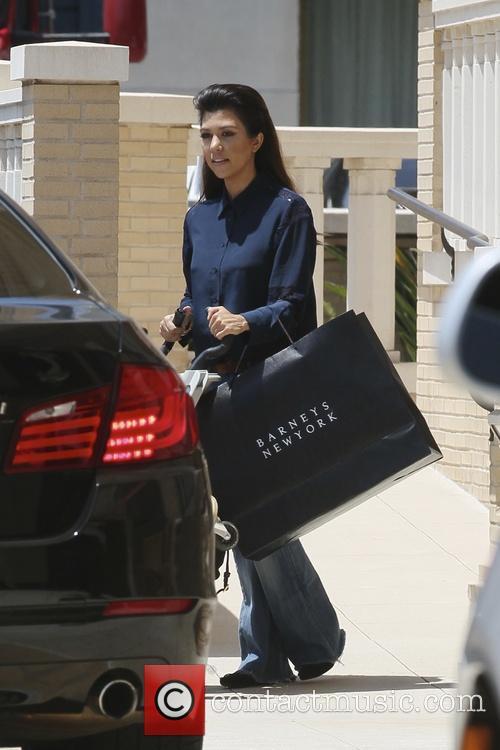 Kourtney Kardashian leaving Barney's New York