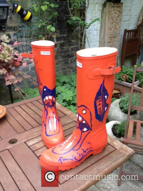 Ronnie Wood, Orange Wellies and Wellington Boots 2
