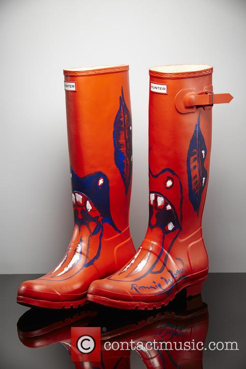 Ronnie Wood, Orange Wellies and Wellington Boots 3