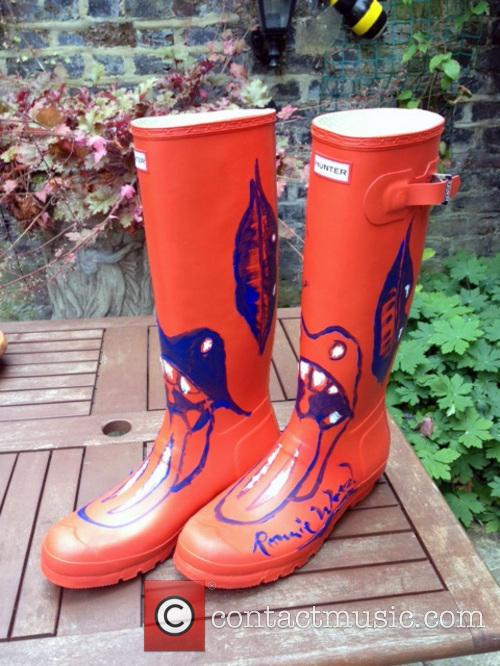 Ronnie Wood, Orange Wellies and Wellington Boots 4