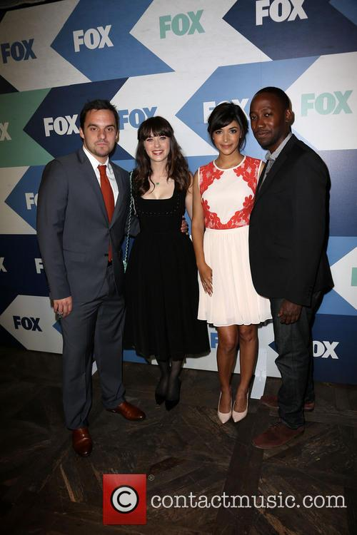 Jake Johnson, Zooey Deschanel, Hannah Simone and Lamorne Morris 2