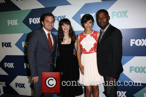 Jake Johnson, Zooey Deschanel, Hannah Simone and Lamorne Morris 1
