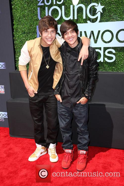 Austin Mahone and Brother 7
