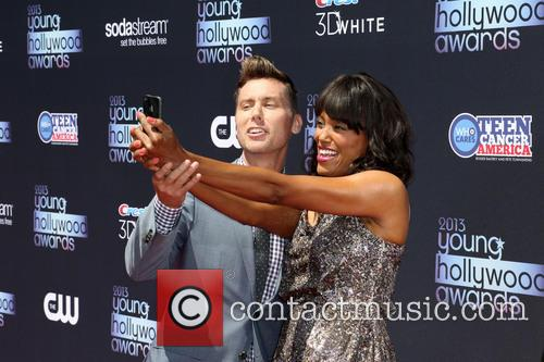 Lance Bass and Aisha Tyler 2