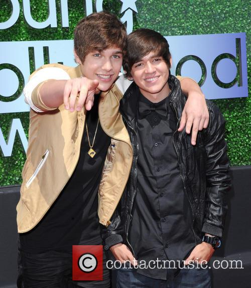 Austin Mahone and Brother