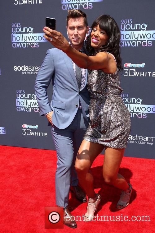 Lance Bass and Aisha Tyler 1