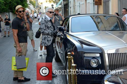 Karl Lagerfeld and Saint Tropez 1