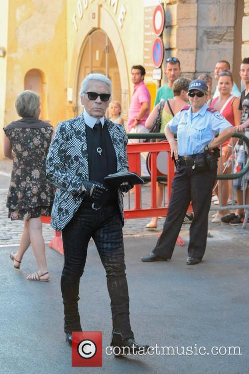 Karl Lagerfeld and Saint Tropez 6