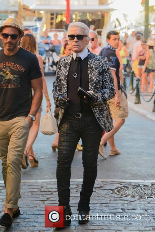 Karl Lagerfeld and Saint Tropez 9