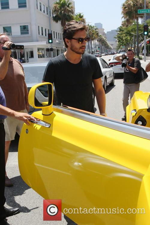 Scott Disick out for lunch in Beverly Hills