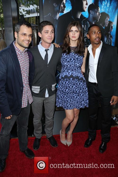 Thor Freudenthal, Logan Lerman, Alexandra Daddario and Brandon T. Jackson 3