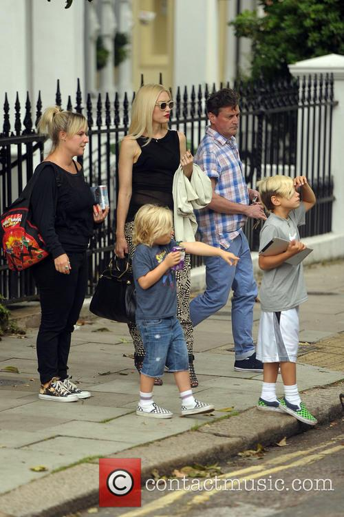 Gwen Stefani, Gavin Rossdale, Kingston and Zuma 9