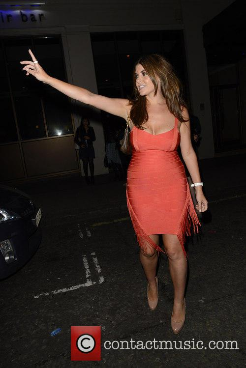 imogen thomas imogen thomas leaving mayfair bar 3795408