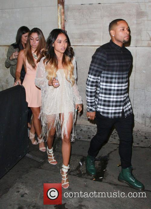 Karrueche Tran leaves Playhouse Nightclub
