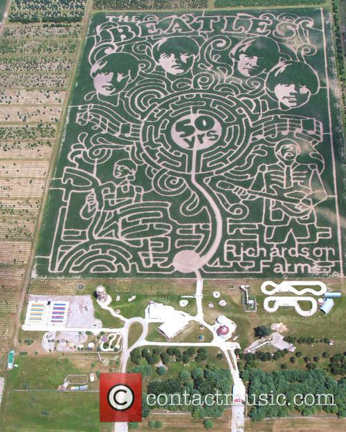 The Beatles and Corn Maze 1