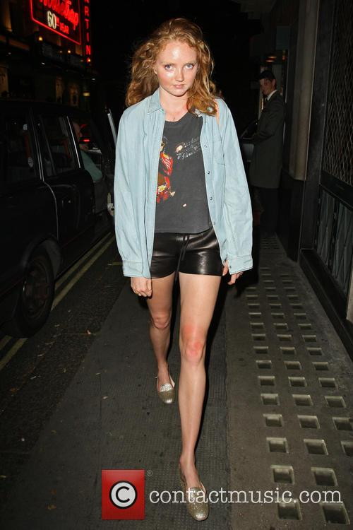 Lily Cole leaving the Ivy restaurant