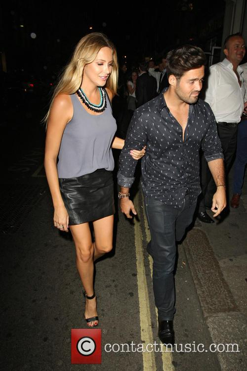 Spencer Matthews and Stephanie Pratt arriving at Mahiki