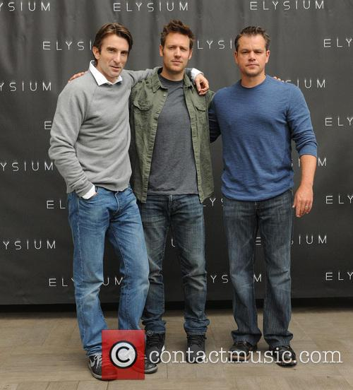 Sharlto Copley, Neill Blomkamp and Matt Damon 1