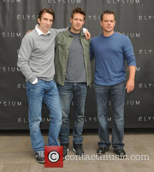 Sharlto Copley, Neill Blomkamp and Matt Damon 4