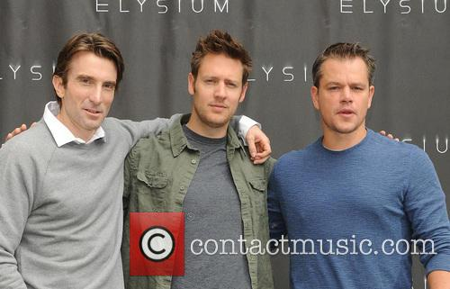 Sharlto Copley, Neill Blomkamp and Matt Damon 7
