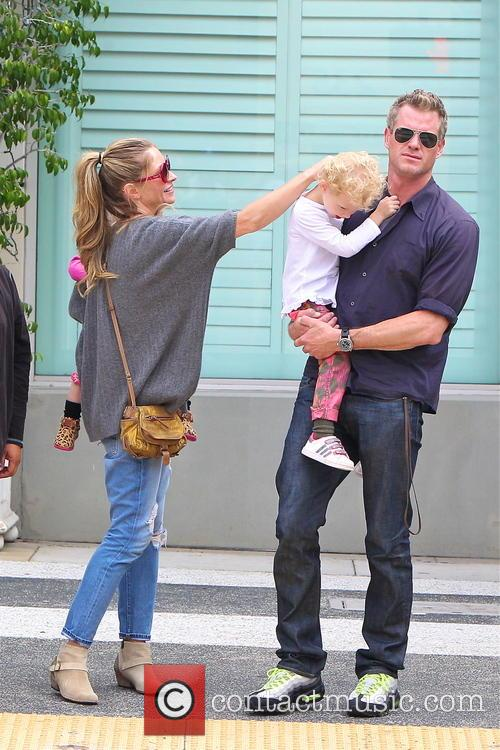 Eric Dane and Rebecca Gayheart with their kids