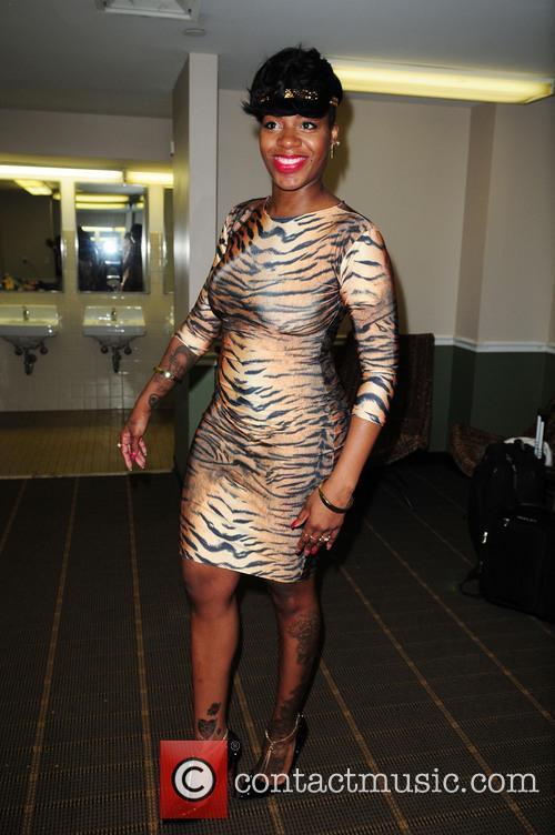 Fantasia backstage after her performance at James L....